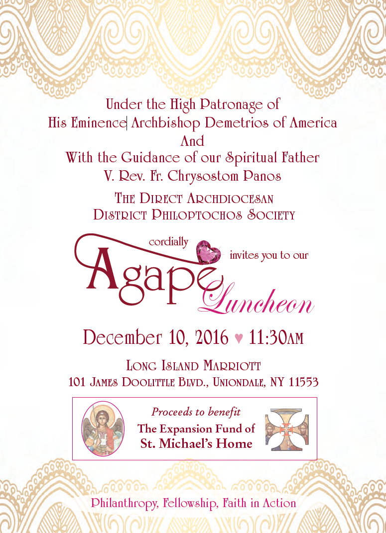 Agape Luncheon Invite